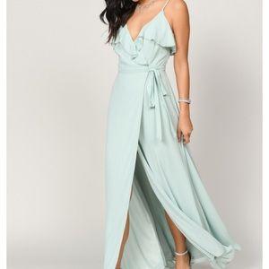 Mint Wrap Maxi Dress